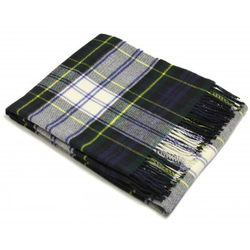 Bronte by Moon 100% Lambswool Tartan Throw - Dress Gordon