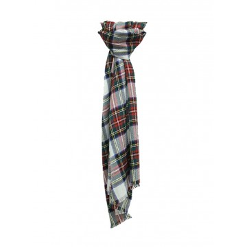 Sinclair Duncan Dress Stewart Tartan Cashmere and Silk Lightweight Scarf