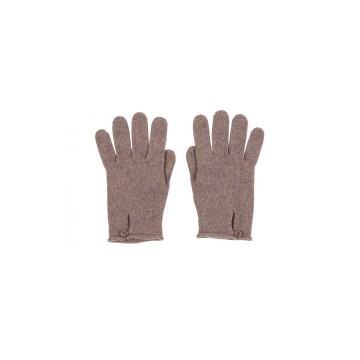 Cashmere Button Loop Glove - Driftwood