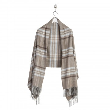 Cashmere Stole - Drybridge Check