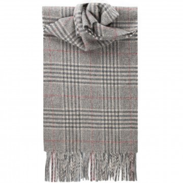 Dumbennan Check Tartan 100% Cashmere Scarf by Lochcarron of Scotland