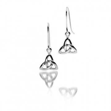 Celtic Trinity Knot Small Sterling Silver Earrings