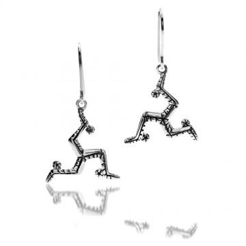 Celtic Manx Sterling Silver Earrings