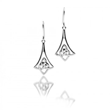 Celtic Bell Sterling Silver Earrings