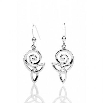 Celtic Spiral & Knot Sterling Silver Earrings