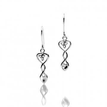 Celtic Heart Love Spoon Sterling Silver Earrings