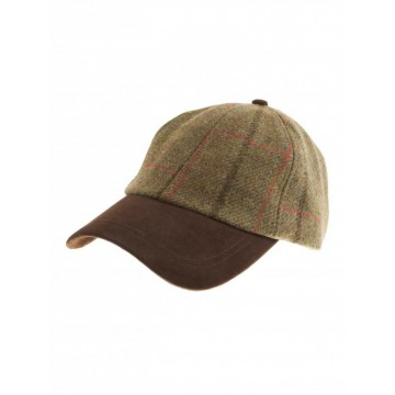 Failsworth Gamekeeper Baseball Cap - Green Windowpane Check