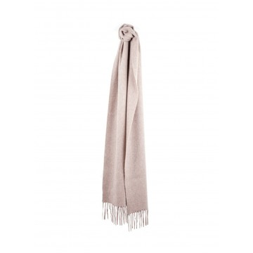 Sinclair Duncan Solid Colour Woven Cashmere Scarf - Fawn