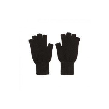 Cashmere Fingerless Glove - Black