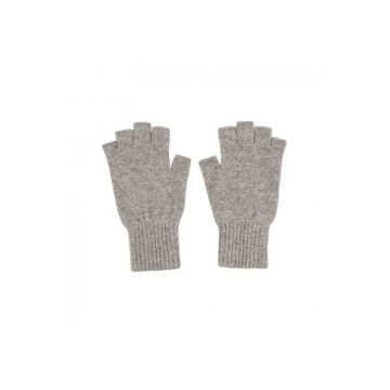 Cashmere Fingerless Glove - Light Grey