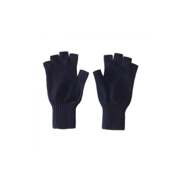 Cashmere Fingerless Glove - Navy