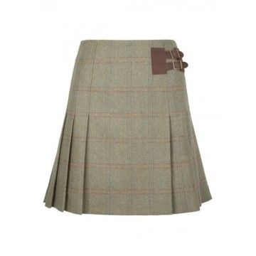 Foxglove Skirt in Connacht Acorn by Dubarry