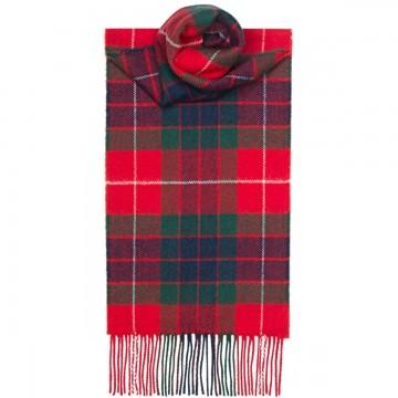 Fraser Red Modern Tartan 100% Lambswool Scarf by Lochcarron
