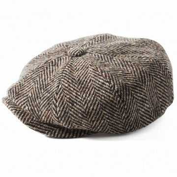 Failsworth Donegal Tweed Windsor Hat - Brown Herringbone
