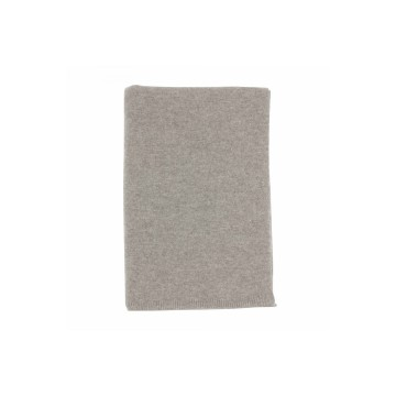 Johnston's of Elgin Cashmere Plain Gauzy Knit Throw - Light Grey