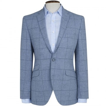 Giraffe 100% Wool Sky Check Jacket