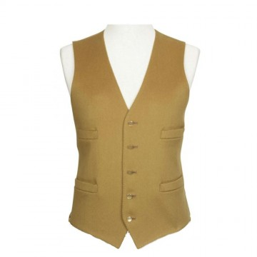 Gold Boltby Pure New Wool Waistcoat