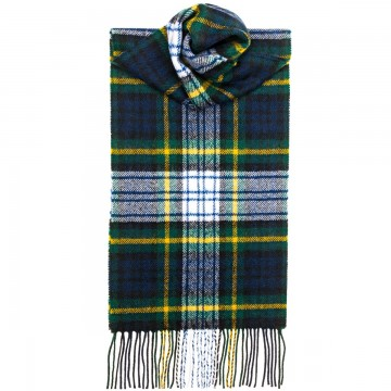 Gordon Dress Modern Tartan 100% Lambswool Scarf by Lochcarron