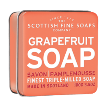 Grapefruit Scottish Fine Soap in a Tin - 100g Triple Milled