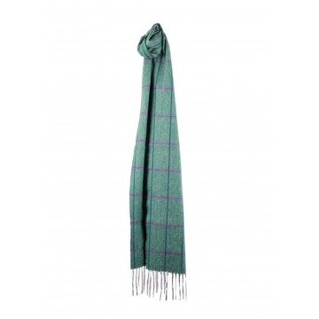 Sinclair Duncan Herringbone Woven Cashmere Scarf - Green