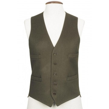 Green Boltby Pure New Wool Waistcoat