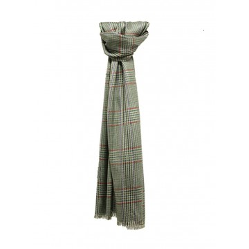 Sinclair Duncan Green Tweed Cashmere and Silk Lightweight Scarf