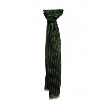Sinclair Duncan Grey Pinstripe Super Lightweight Cashmere and Silk Scarf