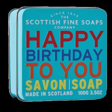 Happy Birthday Soap in a Tin