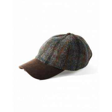 Failsworth Harris Tweed Baseball Cap - Multicoloured Tartan Check