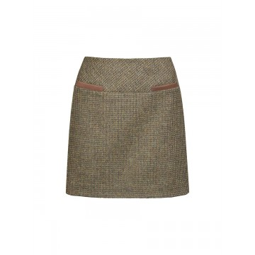 Clover Tweed Mini Skirt in Heath by Dubarry
