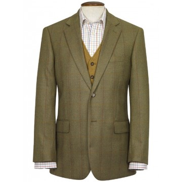 Helsinki Pure New Wool Tweed Jacket - Green Check