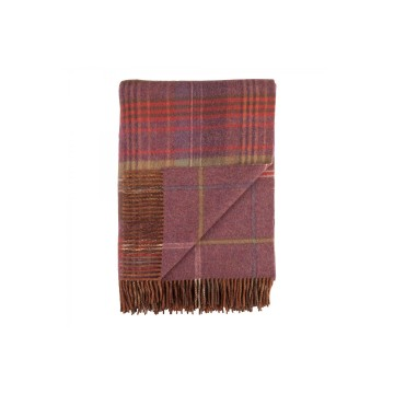 Johnston's of Elgin Lambswool Heritage Throw - Clover