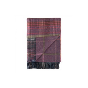 Johnston's of Elgin Lambswool Heritage Throw - Heather