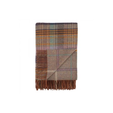 Johnston's of Elgin Lambswool Heritage Throw - Lovat
