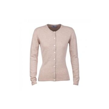 Cashmere Classic High Button Cardigan - Dark Medium Dyed