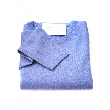 Glacier Ladies' Crew Sweater - 100% Cashmere Made in Scotland