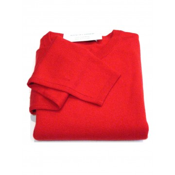 Rouge Ladies' Crew Sweater - 100% Cashmere Made in Scotland