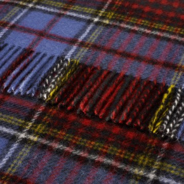 Bronte by Moon 100% Pure New Wool Tartan Throw - Anderson
