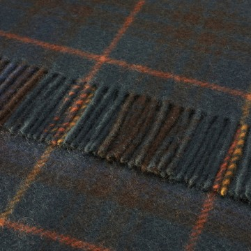 Bronte by Moon 100% Pure New Wool Tartan Throw - Antique Hunting Stewart