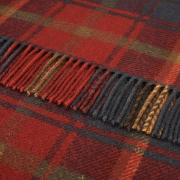 Bronte by Moon Knee Blanket Dark Maple Tartan