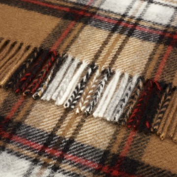 Bronte by Moon Knee Blanket Camel Stewart Tartan