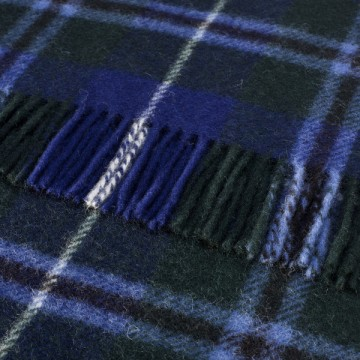Bronte by Moon 100% Pure New Wool Tartan Throw - Douglas