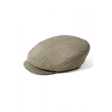Failsworth James Flat Cap - Light Brown Tartan Check
