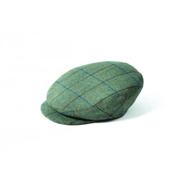 Failsworth James Flat Cap - Light Green Windowpane Check