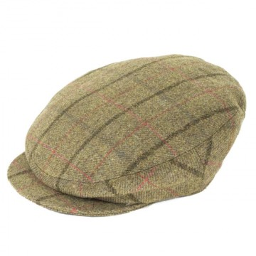 Failsworth James Flat Cap - Light Green Check