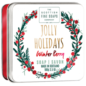 Jolly Holidays Christmas Soap in a Tin