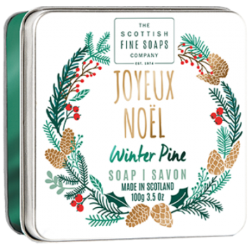 Joyeux Noel Christmas Soap in a Tin