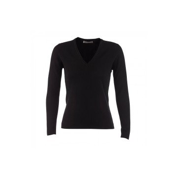 Cashmere Classic V-Neck Sweater - Black