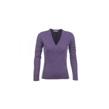 Cashmere Classic V-Neck Sweater - Blackberry