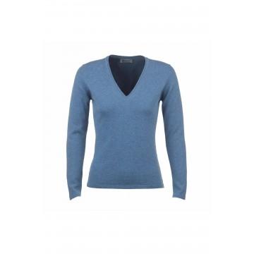 Cashmere Classic V-Neck Sweater - Jean